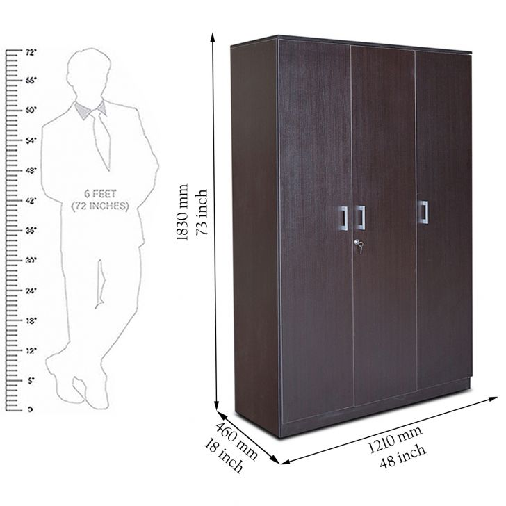 Prime Three Door Wardrobe Wenge,Weekly Deals