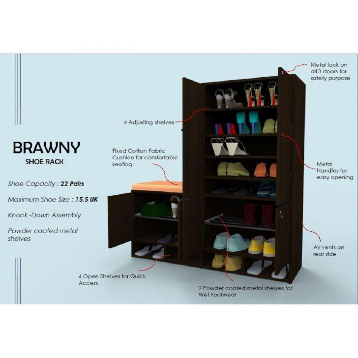 Brawny Shoe Rack in Wenge Colour,Furniture