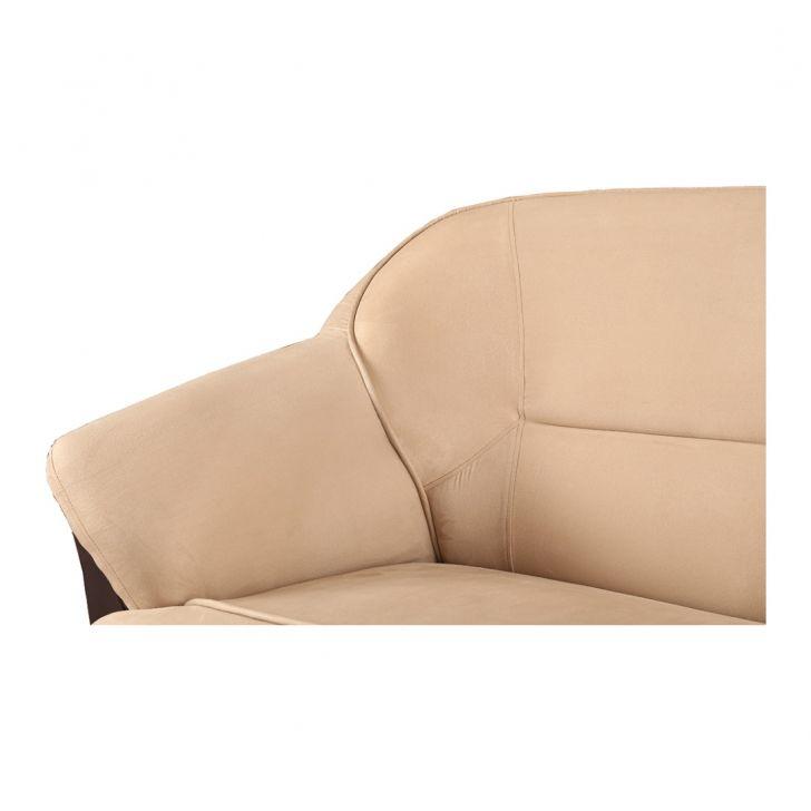 Lamia Pvc/Fab Three Seater Sofa Brown,Furniture