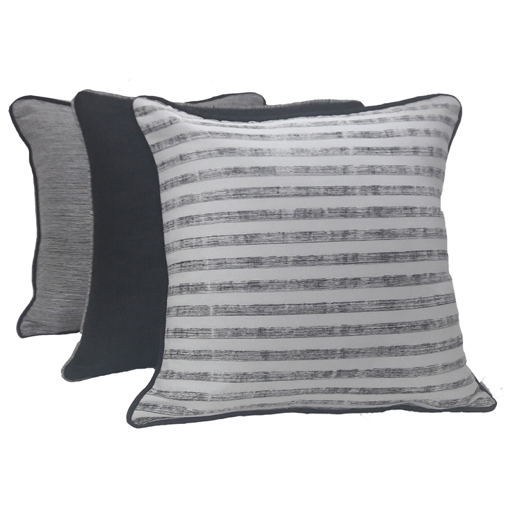 Living Essence Set Of Three Cushion Cover 16X16 Fiesta Black,Covers & Inserts