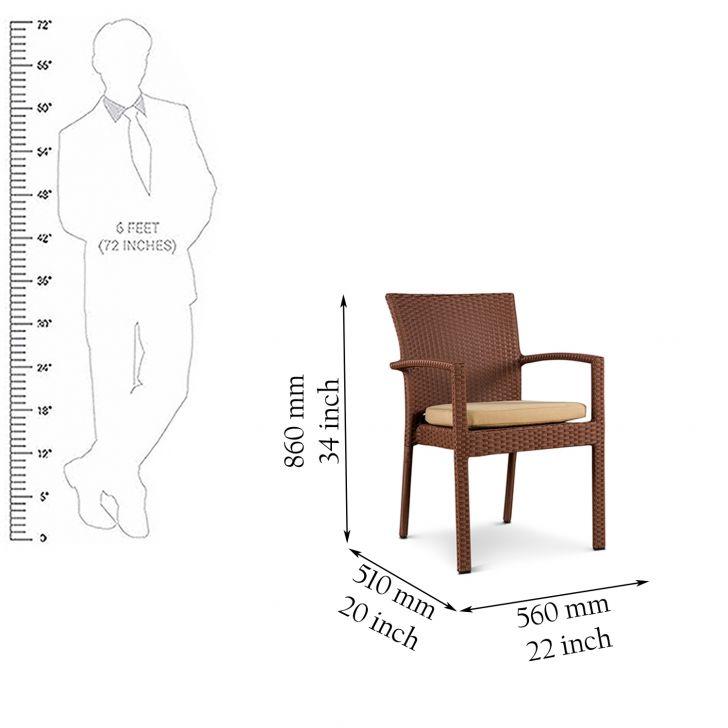 Eden Garden Chair in Rosegold Finish,Outdoor Chairs