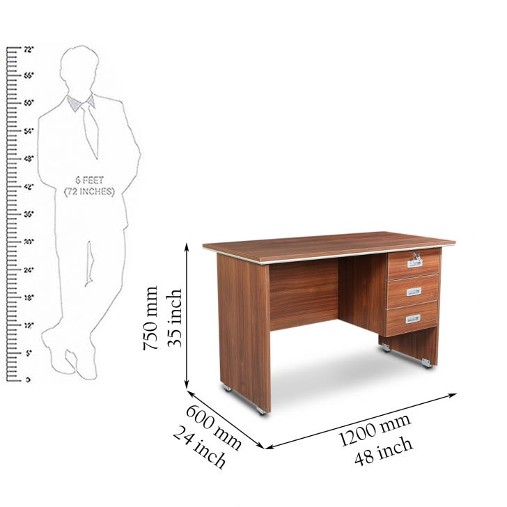 Integra 5 Feet Table Walnut Regato,Office Tables