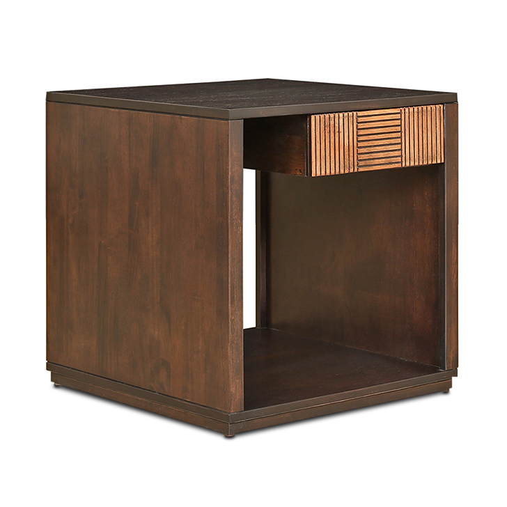 Sienna Solidwood Side Table in Wenge & Oak Colour,Coffee Tables