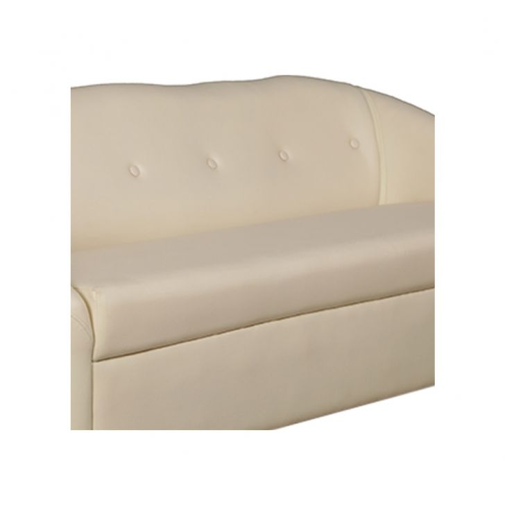 Belfast Leatherette Three Seater Sofa Ivory,Furniture