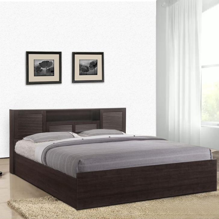 Bolton Queen Bed With Hydraulic Storage in Wenge Finish,HomeTown Best Sellers