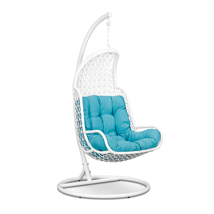 Rihanna Swing with Stand & Teal Cushion in White Frame,Swings