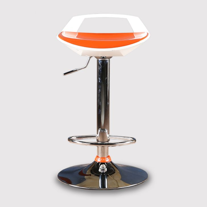 Stella Bar Stool in Orange Finish,Bar Stools