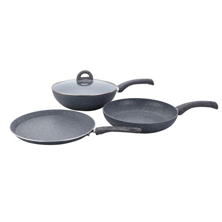 Wonderchef Granite Set 4 Pc (Grey),Kitchenware