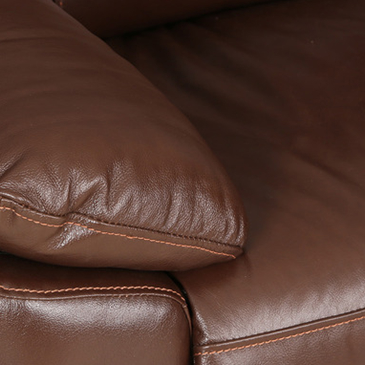 Lancaster Leather Two Seater Sofa in Dark Brown Colour,Clearance Sale