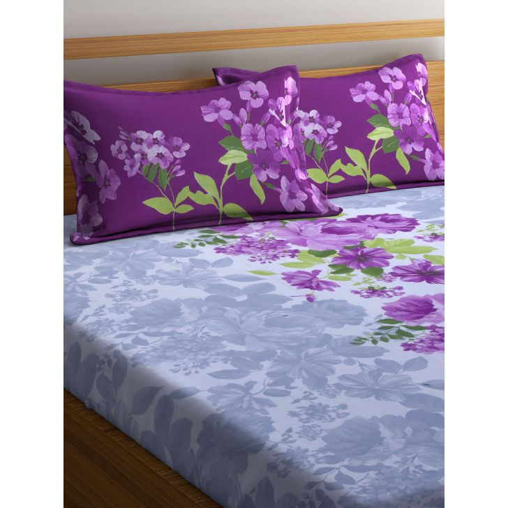Portico Vienna Bedsheet Multicolour,Double Bed Sheets