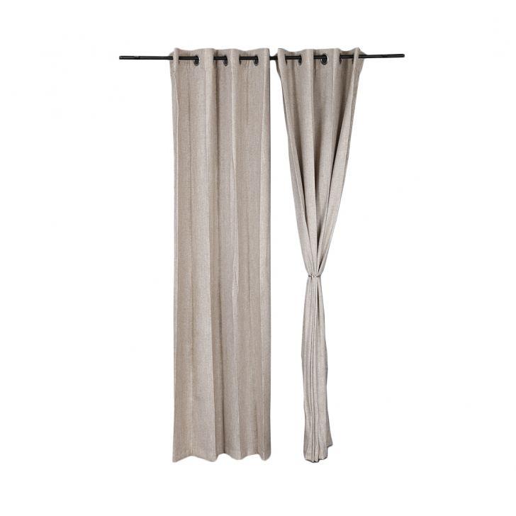 Amour Door Curtain Beige Set of 2,Door Curtains