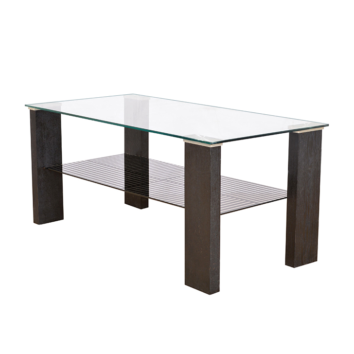 Alice Veneer Centre Table in Black Colour,Console Tables