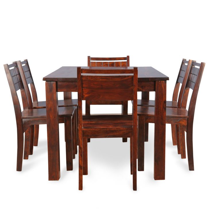 Trelis Six Seater Dining Set in Honey Color,Furniture Best Sellers
