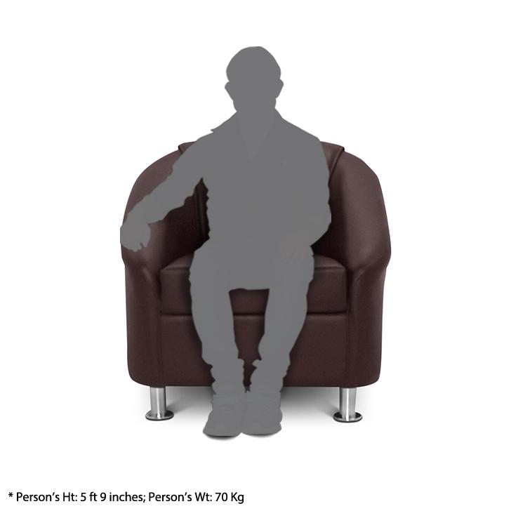 Belfast One Seater Sofa in Brown Leatherette,Festive Bonanza Offer