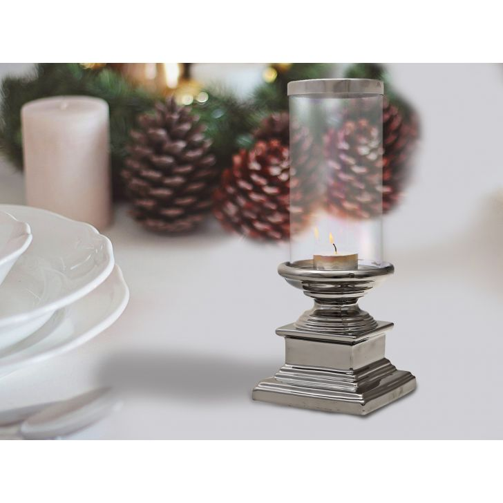 Sterling Square Base Candle Holder,Candle Holders
