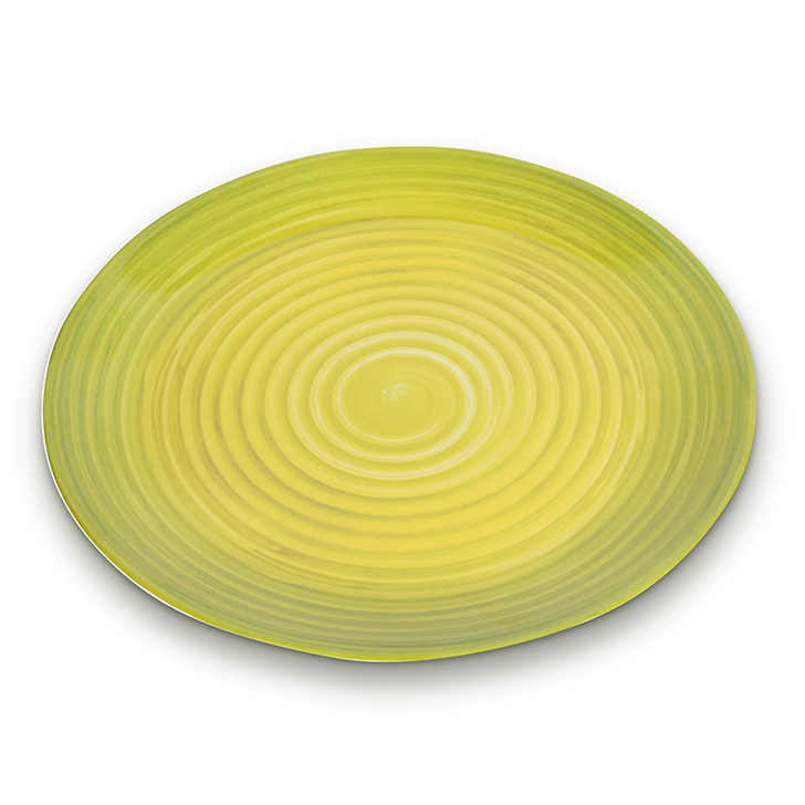Living Essence Melamine Buffet Plate Citron,Plates