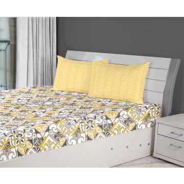 Quick View. Fiesta Tile Double Bedsheet Gold
