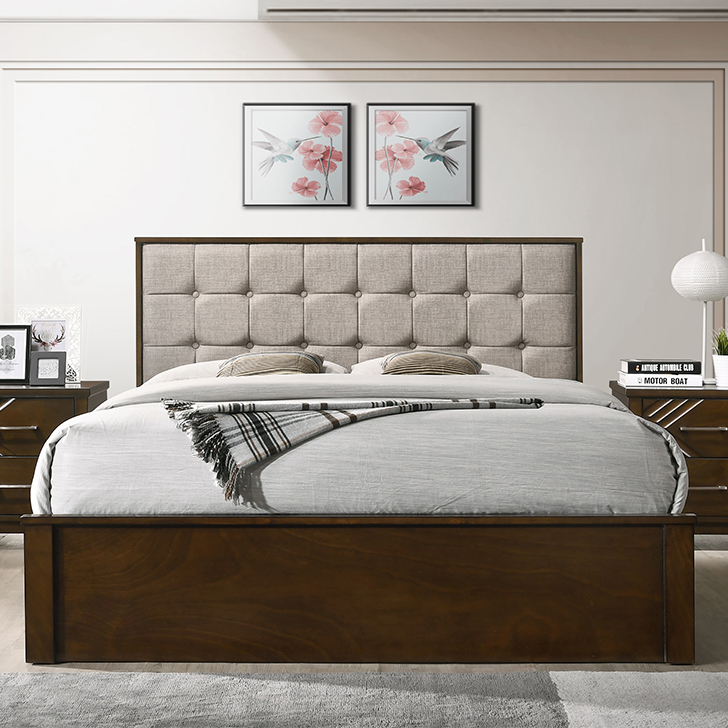 Bavaria Queen Bed With Box Storage,All Beds