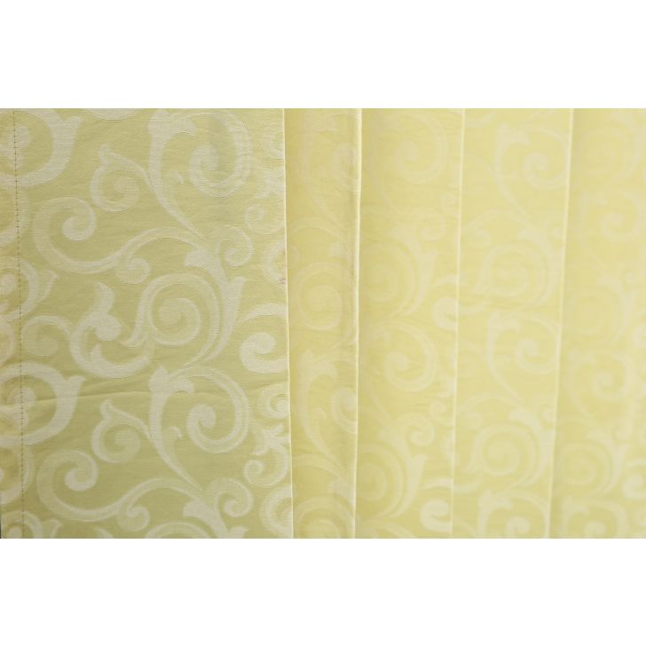 Florina Extra Large Curtain Lime Ice,Curtains