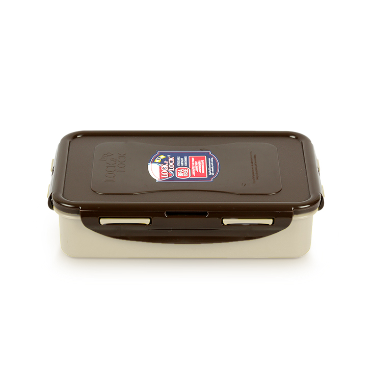 Lock & Lock Brown And White Food Container 800 ml,Lunch Boxes