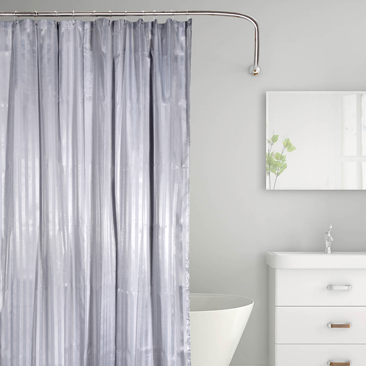 Tangerine Polyester Shower Curtain With Hooks Grey,Bath Linen