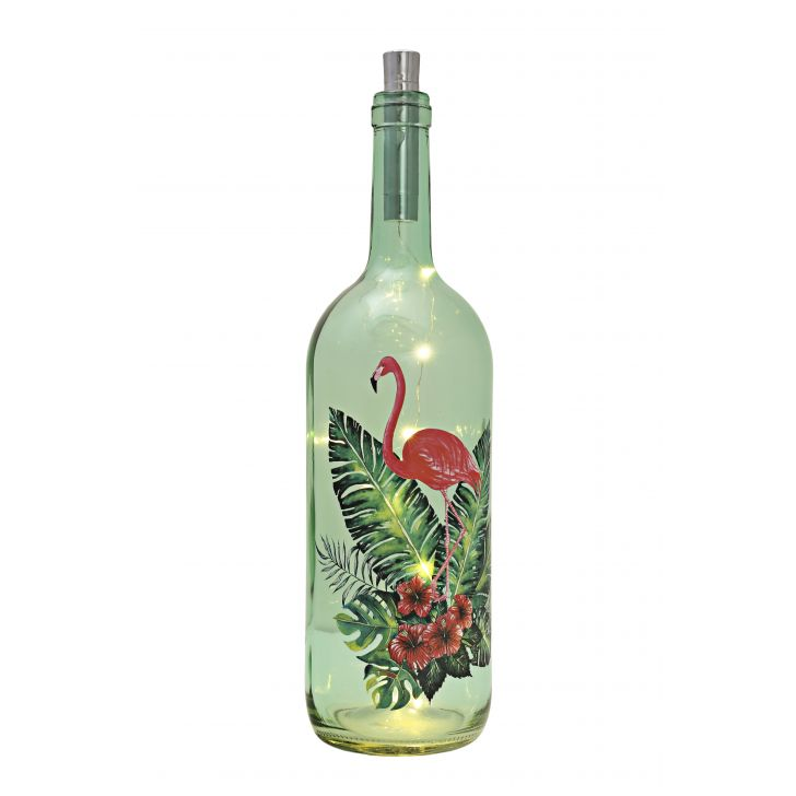 Venus Famingo Decal Bottle Green Tint,Lamps & Lighting