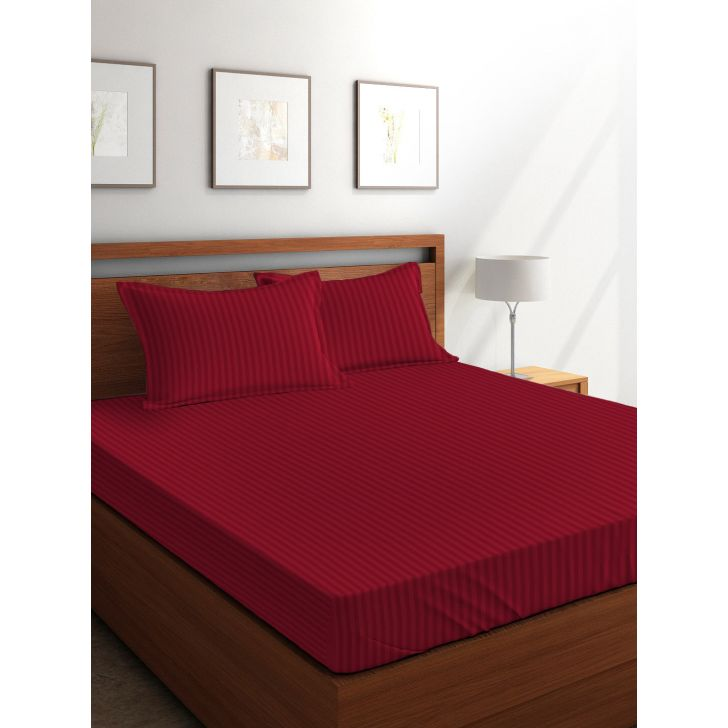 King Bedsheet Silk Sateen Burgandy Maroon,King Size Bed Sheets
