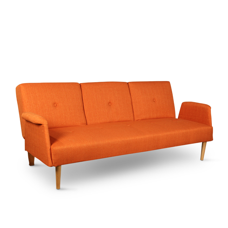 Buy liana sofa cum bed orange online in india for Sofa bed india
