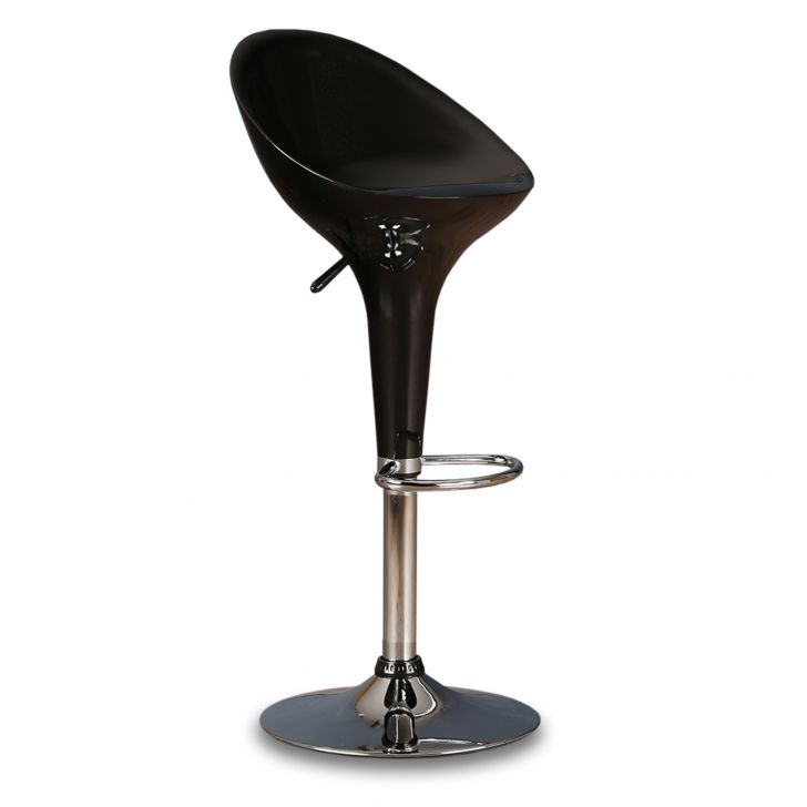 Emily Bar Stool with Footrest in Black Colour,The Big Summer Sale