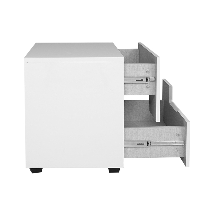 Edwina High Gloss Night Stand in White Colour,Bedside Tables