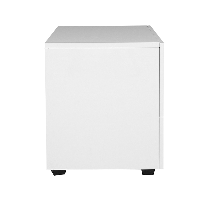 Edwina High Gloss Side Table White,Bedside Tables