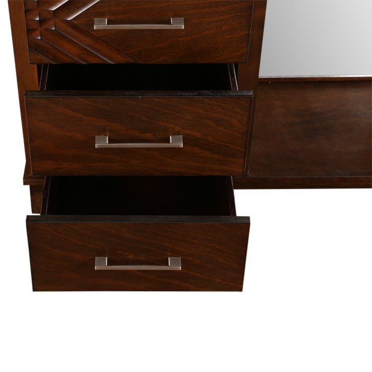 Bavaria Dresser with Mirror in Walnut Finish,Dressing Tables