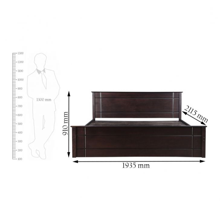 Zina Solidwood Grand King Bed in Cappuccino Finish,All Beds