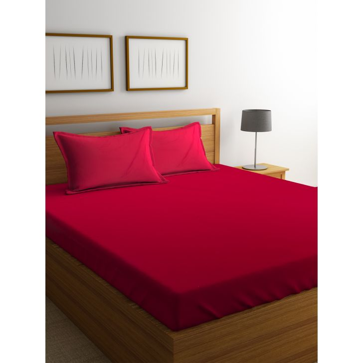 Portico Supercale Bedsheet Red,Double Bed Sheets