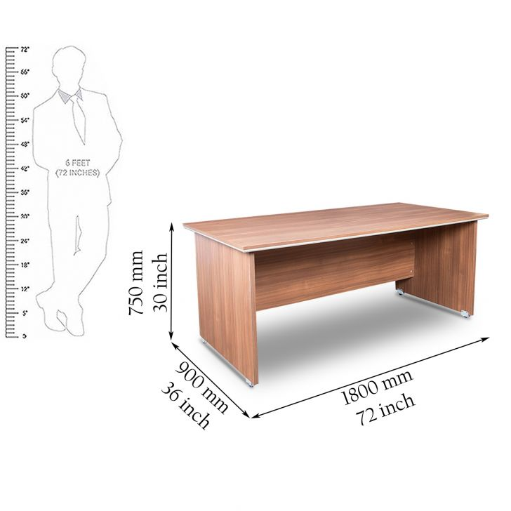Nova Office cum Study Desk in Walnut Regato Finish,Furniture
