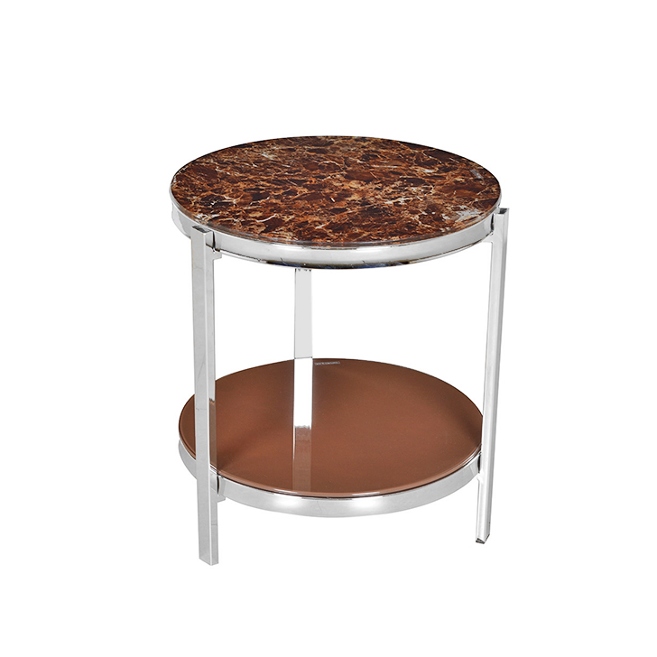 Troy Glass Top End Table in Brown Colour,Side Tables