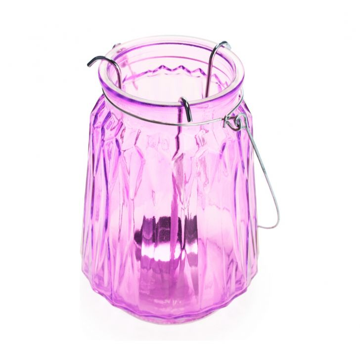 Ezra Cyln Faceted Candle Holder Magenta,Candle Holders