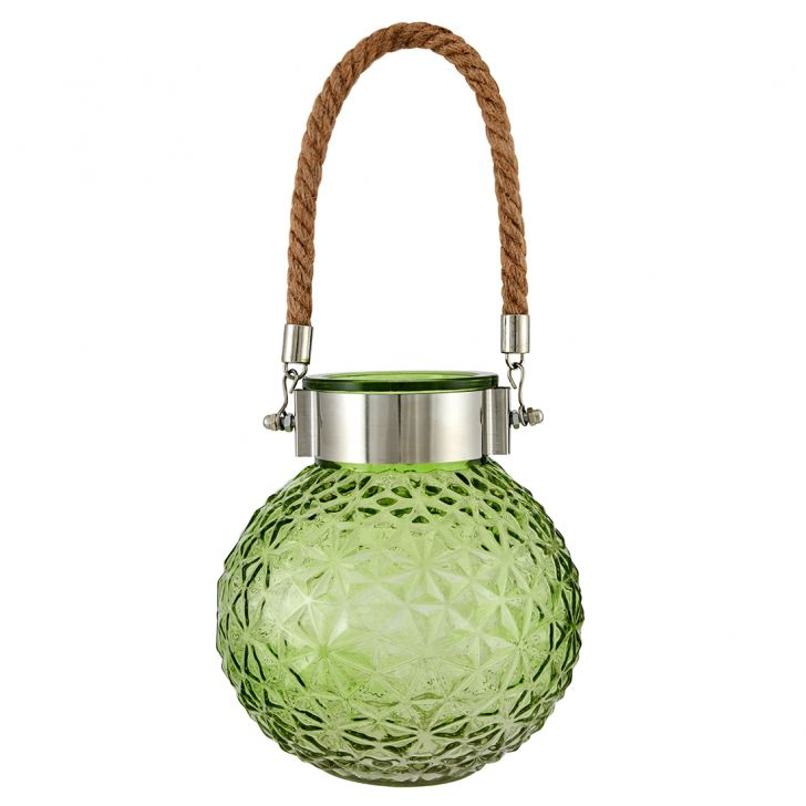 Buy Marvela Colored Glass Vase With Rope Lime Online In India
