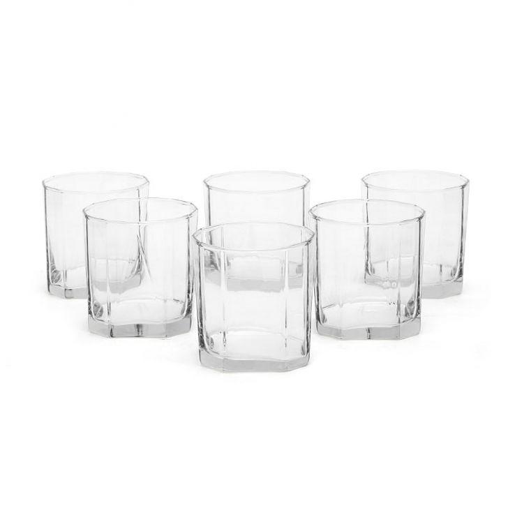 Ocean Pyramid Rock Tumbler 6 Pcs 330 ml,Whisky Glasses