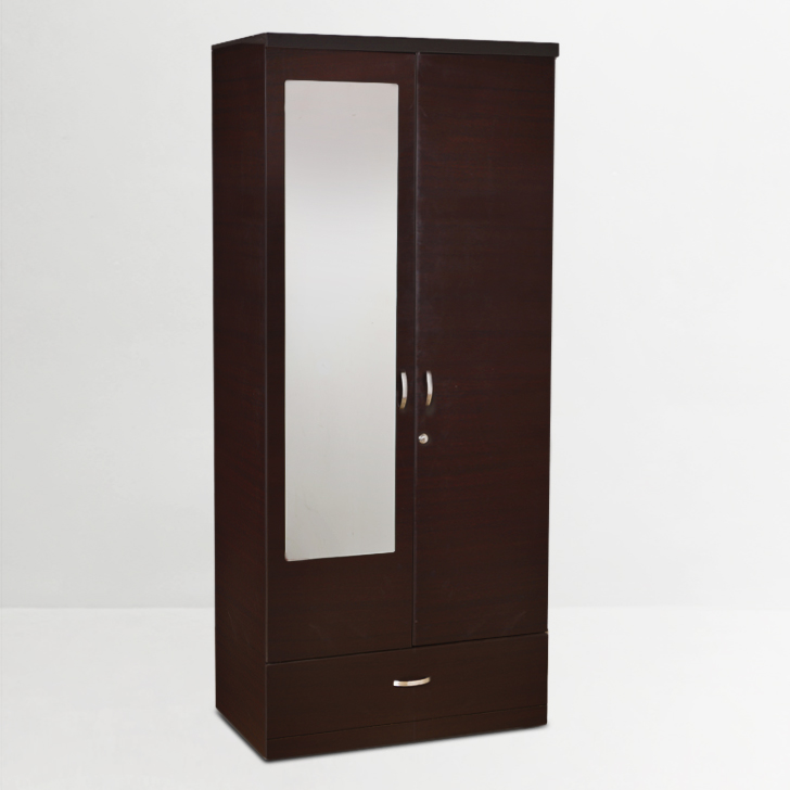 Buy Utsav Two Door Wardrobe With Mirror In Wenge Finish