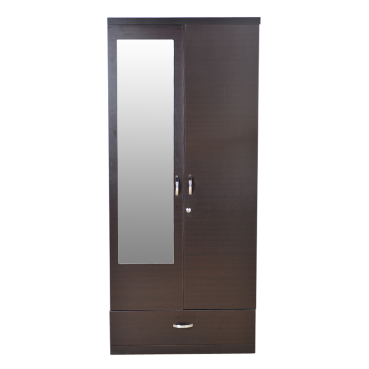 Utsav Two Door Wardrobe With Mirror Wenge,2 Door Wardrobes