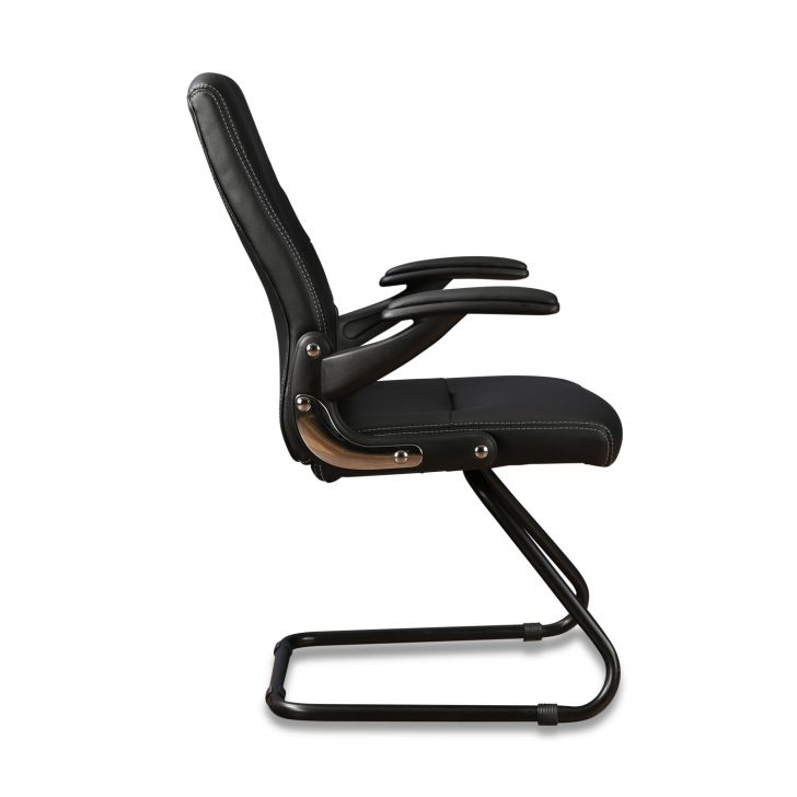 Antonio Visitor Pu Black Chair,Office Chairs