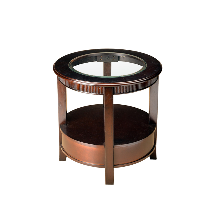 Zina End Table in Brown Finish,Side Tables