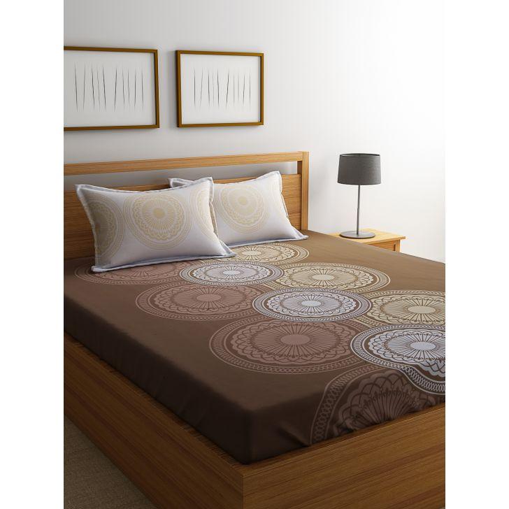 Portico Sparkle Bedsheet Multicolour,Double Bed Sheets