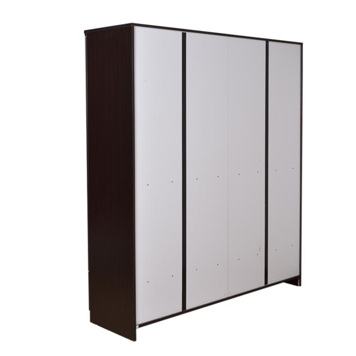 Utsav Four Door Wardrobe With Mirror Wenge,4 Door Wardrobes