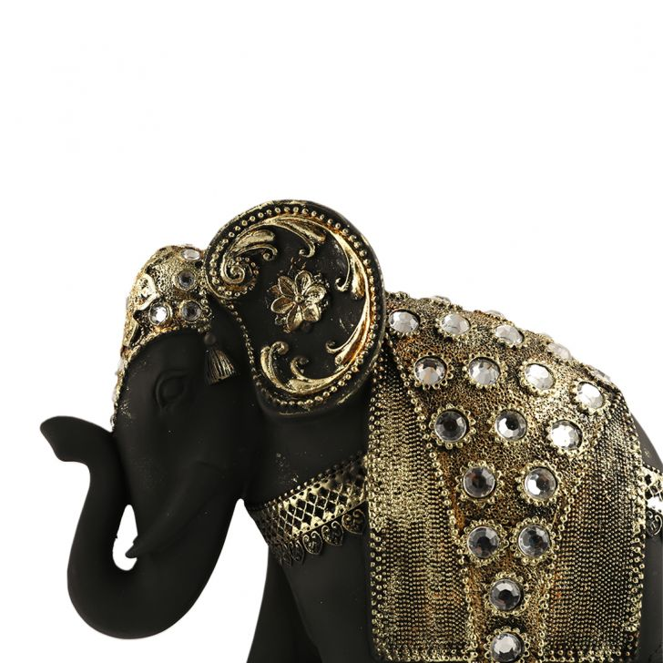 Fio Embellished Elephant Trunk Down Large,Showpieces