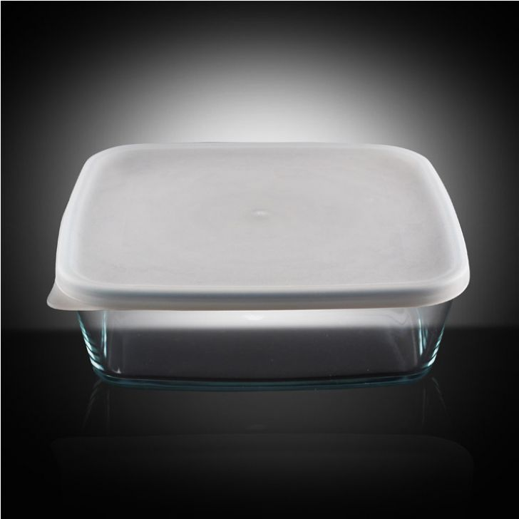 Borosil Baking Dish With Plastic Lid (800 ml),Muffin & Cupcake Bakeware