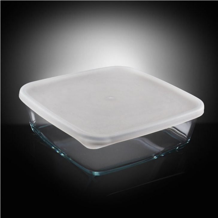 Borosil Baking Dish With Plastic Lid (800 ml),Muffin & Cupcake Bakeware