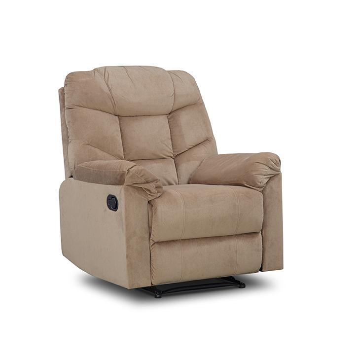 Caesar One Seater Manual Recliner Sofa in Beige Colour,Recliners