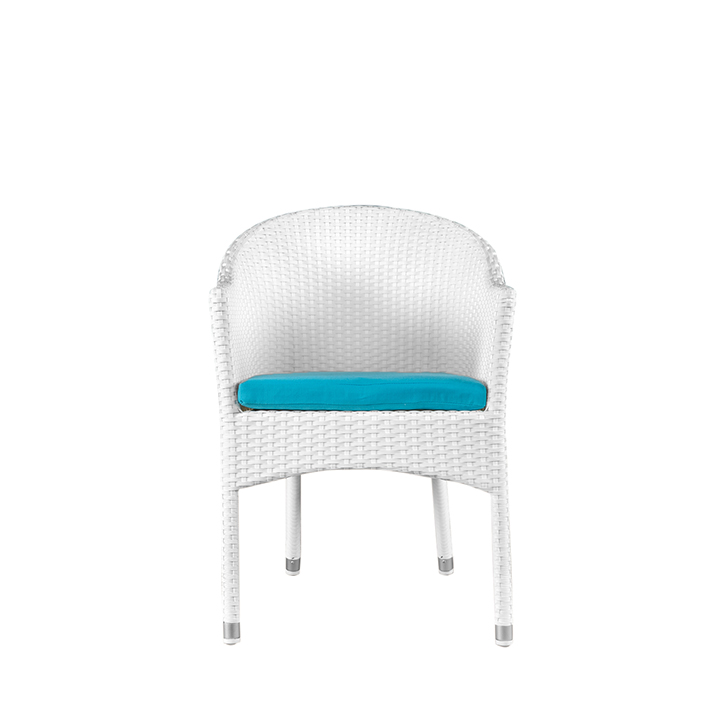 Canna Garden Chair White And Blue,Garden Furniture